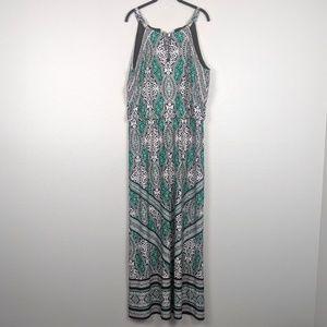 WHBM Halter Printed Maxi Dress